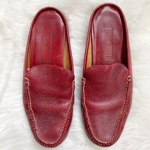 Cole Haan Country Red Leather Slip on loafers 8.5